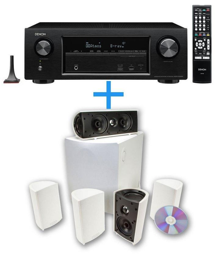 Pack Ampli Denon AVR-X1300 + Enceintes 5.1 Definitive Technology ProCinema 600