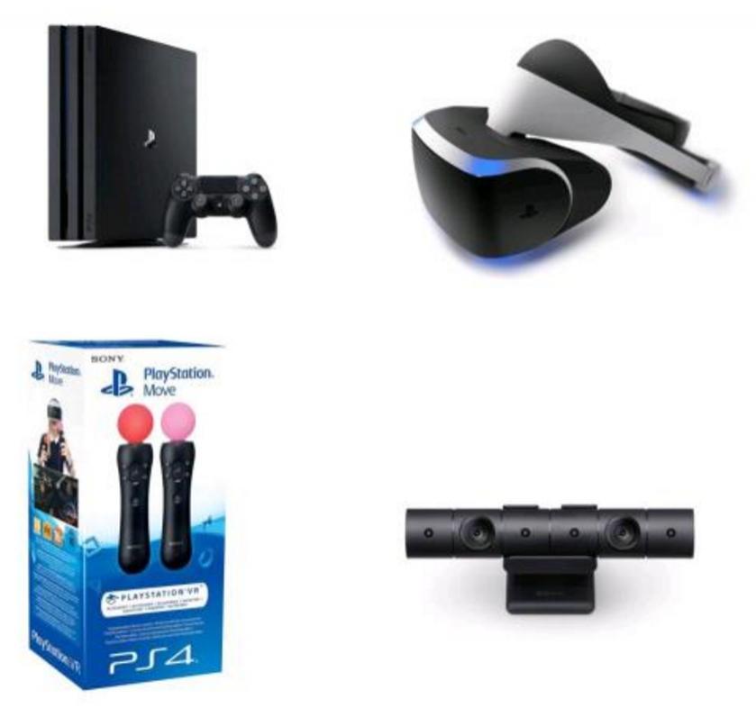 Console Sony PS4 Pro + Casque Playstation VR + Caméra + PS move + 100€ fidélité