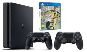 Pack Console PS4 Slim 1To + Fifa 17 + 2eme Manette (V2)