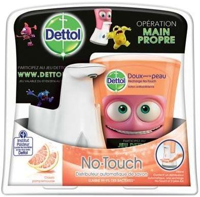 Distributeur automatique de savon Dettol + 1 recharge