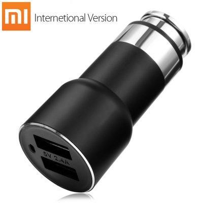 Chargeur Allume-cigare 5-en-1 Xiaomi RoidMi 2S Noir (Version Internationale) - 2 ports USB, Récepteur Bluetooth 4.2 / Transmetteur FM, Kit Mains libres