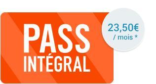 Frais de dossier (valeur 30€) offerts sur le Pass Intégral (23.50€/mois)