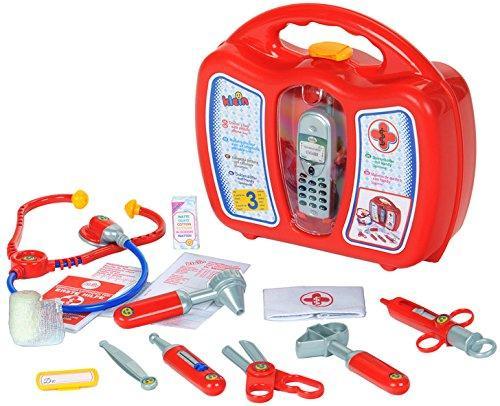 Jeu d'imitation Klein 4350 - Mallette docteur avec accessoires et téléphone portable