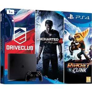 Console Sony PS4 Slim 1To + Uncharted 4 + Drive Club + Ratchet & Clank + Dragon ball Xenoverse 2 édition deluxe