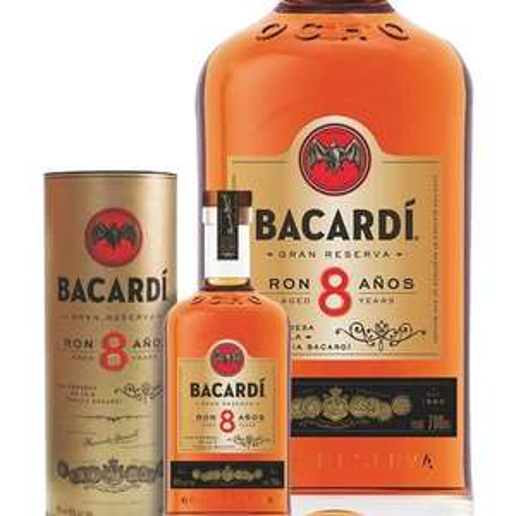 Rhum Bacardi 8 ans - 40°, 70cl