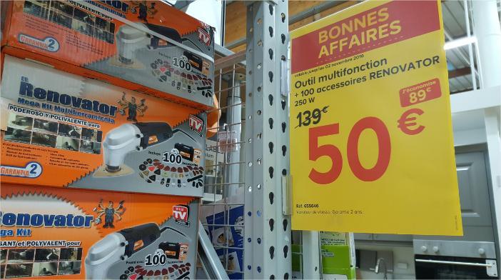 Sélection d'articles en promotion - Ex: Outil multifonction Renovator avec 100 accessoires 250W