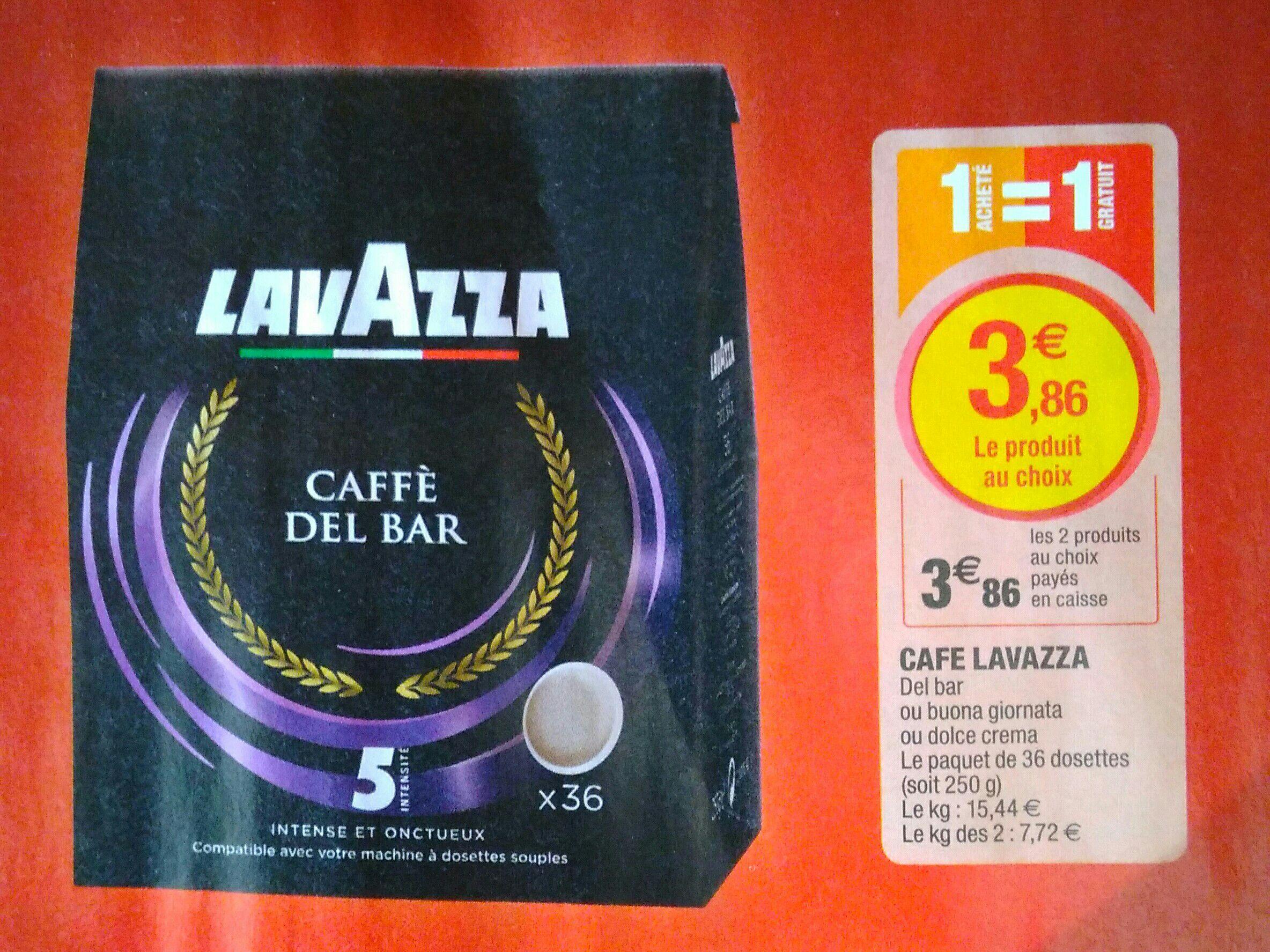 2 paquets de café Lavazza (36 dosette)