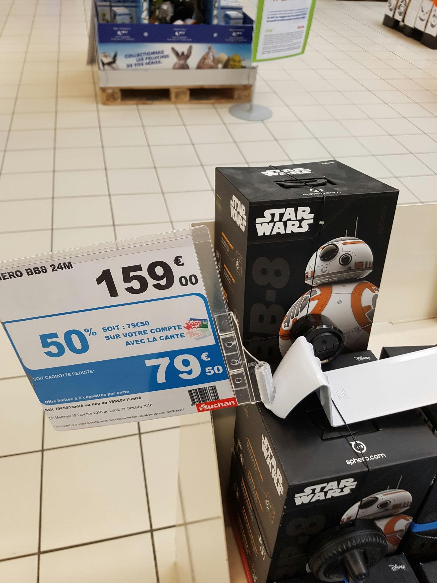 Droïde télécommandé Star Wars Sphero BB-8 à (avec 79.50€ sur la carte)