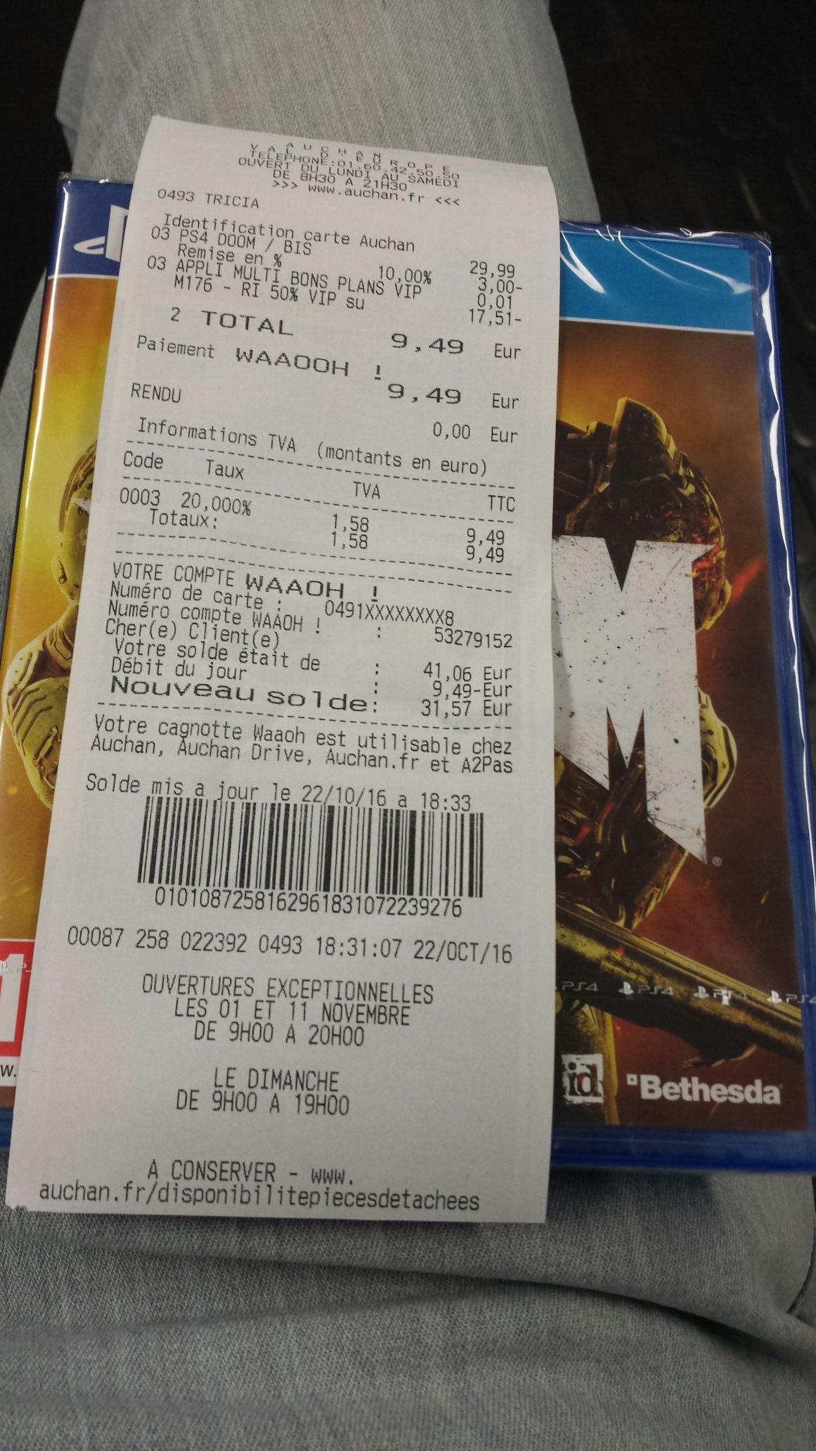 Jeu Doom sur PS4 ou Xbox One