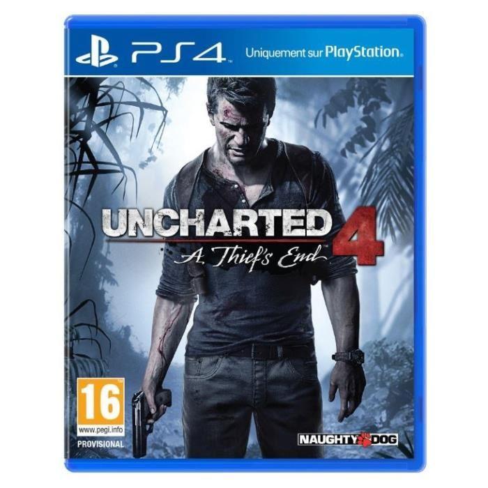 Jeu Uncharted 4 :Thief's end sur PS4