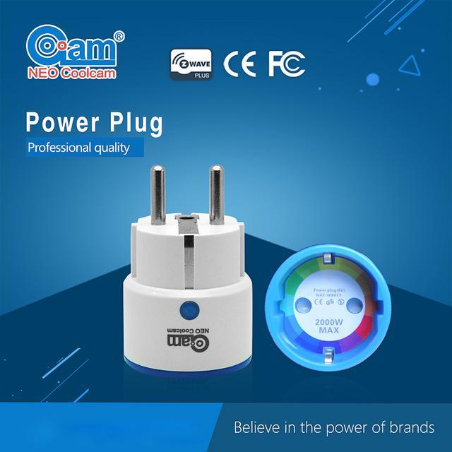 Prise Neo Coolcam NAS-WR01ZE compatible Z-Wave avec indication de la consommation électrique