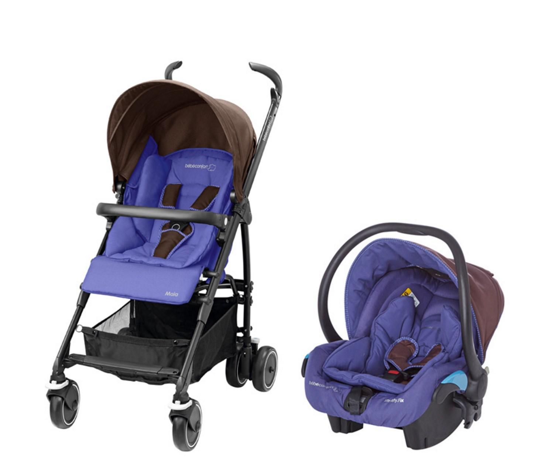 Poussette duo bébé confort Maia - Violet