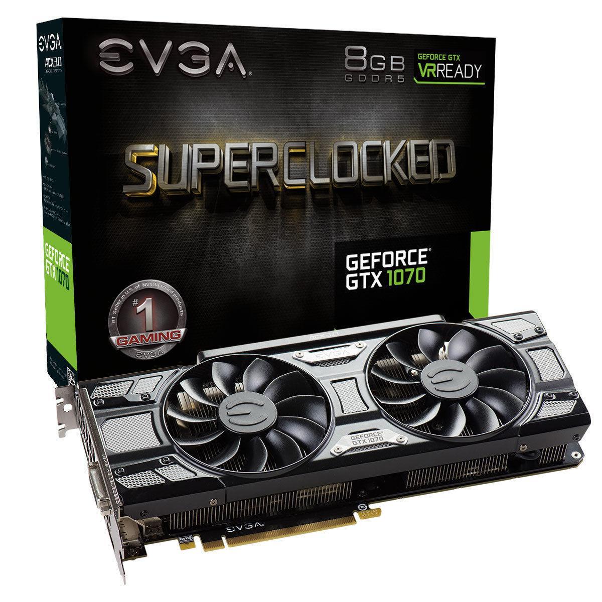 Carte graphique GeForce GTX 1070 EVGA SC GAMING ACX 3.0 Black Edition