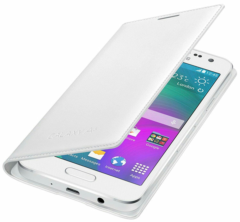 [Panier Plus] Etui à rabat blanc Original Samsung A3 2015