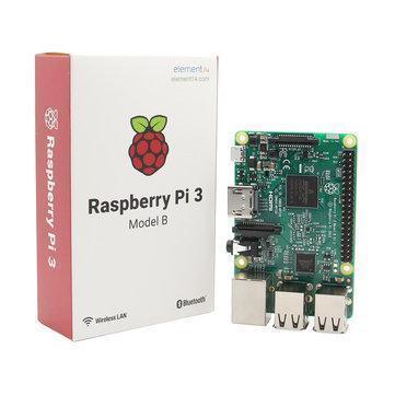 Mini-PC Raspberry Pi 3 B - Quad-core ARM Cortex-A53, RAM 1Go, Wi-Fi / Bluetooth / Ethernet, 4x USB, microSD