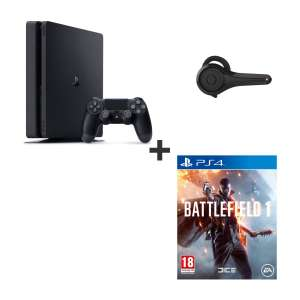 Pack console Sony PS4 Slim (500 Go) + Battlefield 1 + oreillette bluetooth