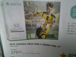 Pack console Microsoft Xbox One S (500 Go) + FIFA 17