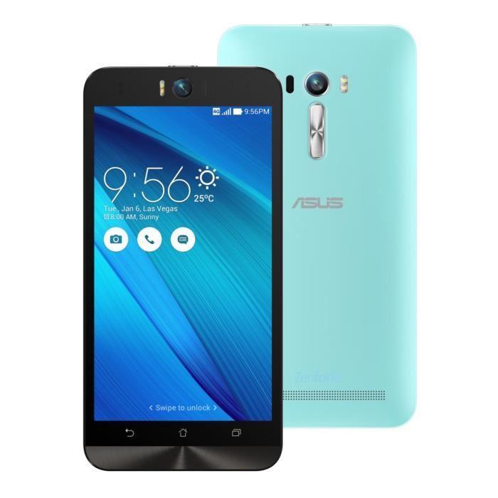"""Smartphone 5.5"""" Asus ZenFone Selfie ZD551KL Full HD 16Go 4G Bleu (+50€ en bon d'achat)"""