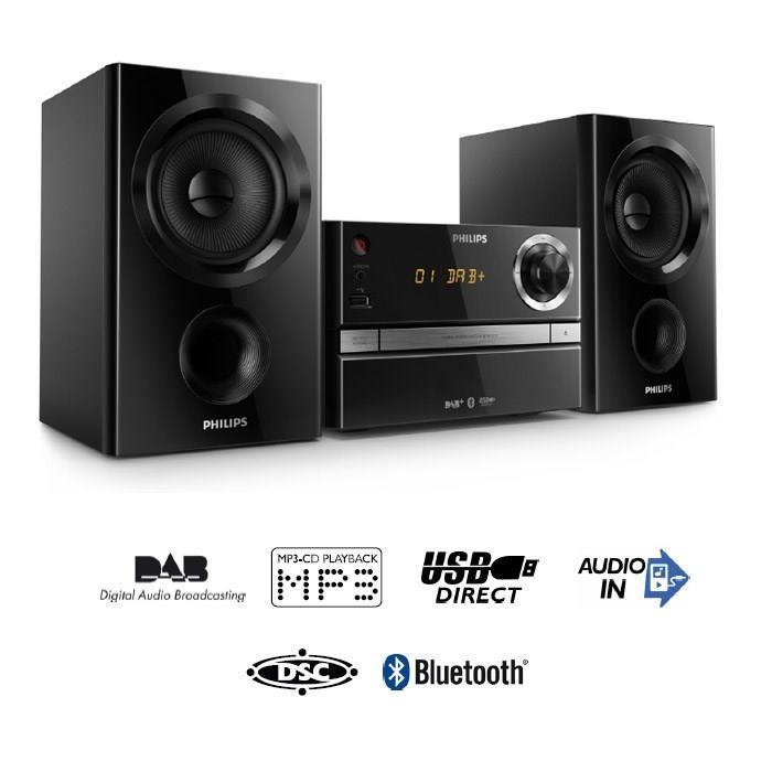 Micro Chaîne HiFi Philips BTB1370 - CD, Bluetooth, 30W