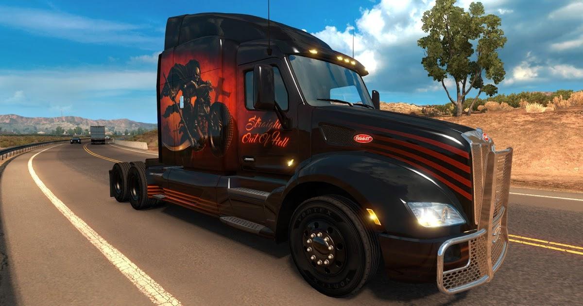 DLC Peinture Halloween pour American Truck Simulator offert dès 3h de jeu