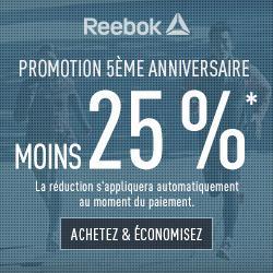 25% de réduction sur tout le site, y compris sur les promotions (jusqu'à -50%) + Livraison gratuite
