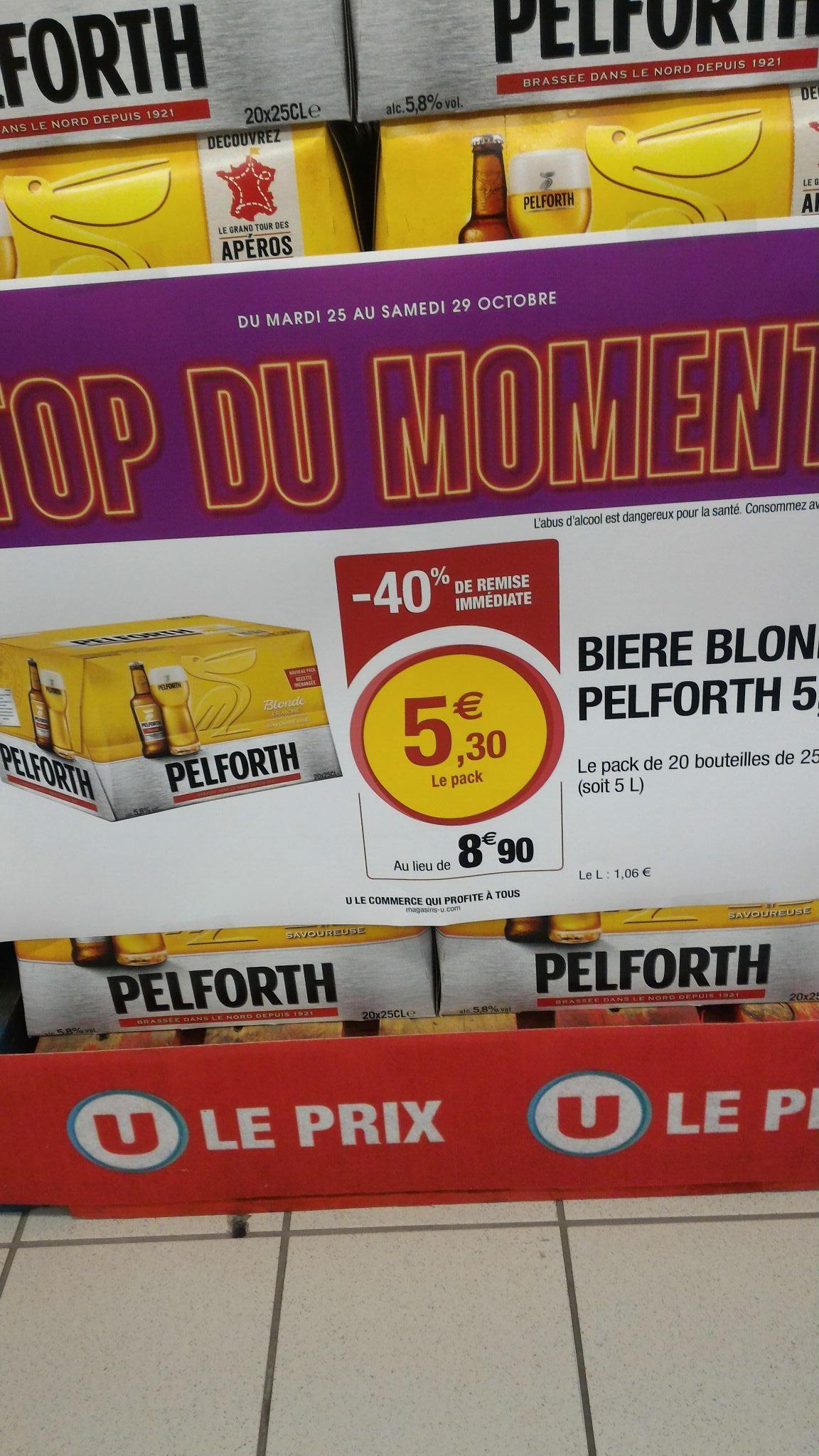 Pack de 20 Bières Pelforth Blonde 5.8° - 20x25cl