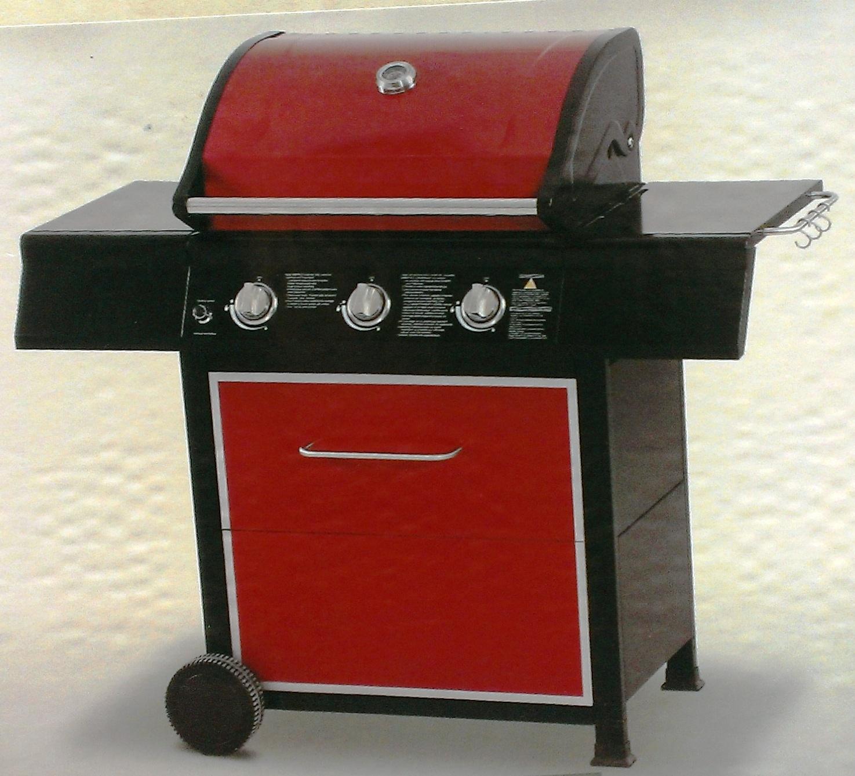 Barbecue de jardin à gaz 3 feux - BBQ - 12 KW