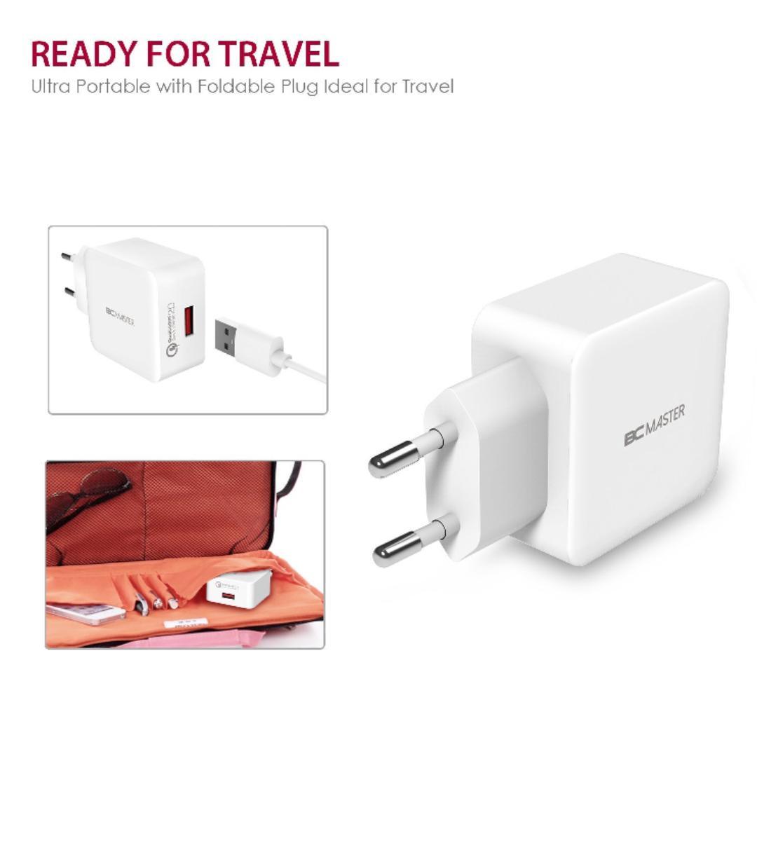 Chargeur secteur Quickcharge 2.0  - 1 Port USB / 18W  BC Master