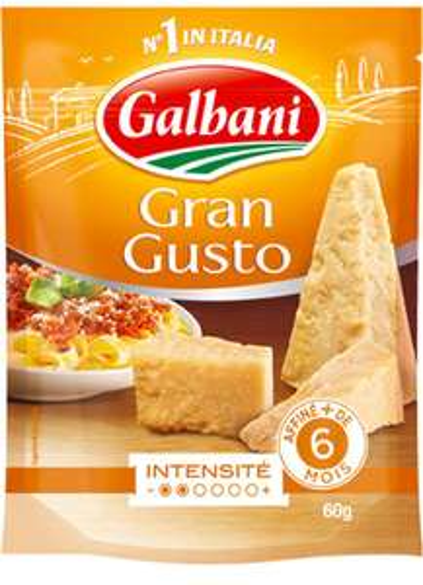 Lot de 2 paquets de fromage  râpé Italien Galbani - Gran Gusto + Grana Padano (via Shopmium + BDR)