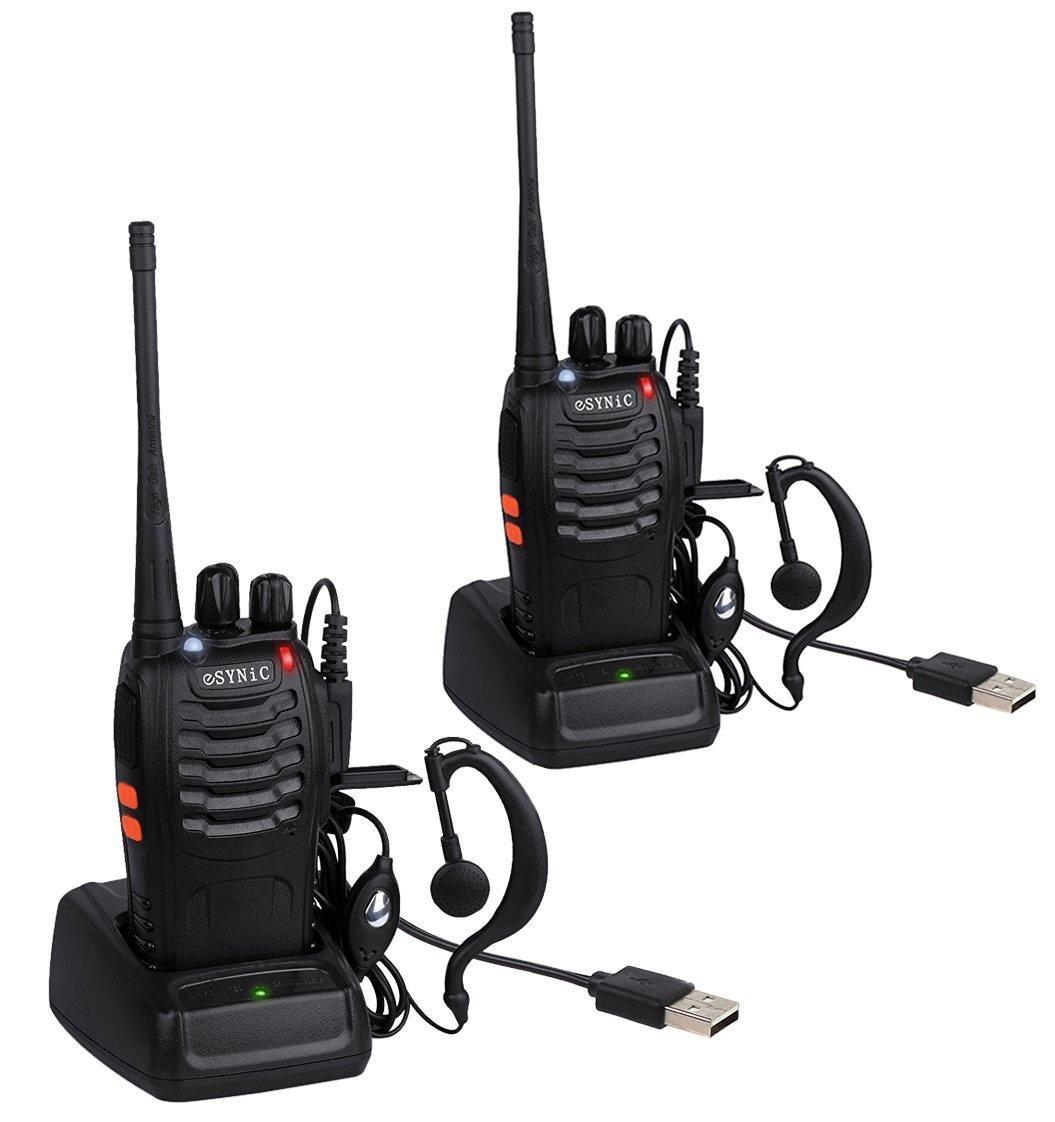 Paire De TalkieWalkies ESYNiC Canaux FM Longue Portée Km - Talkie walkie longue portée