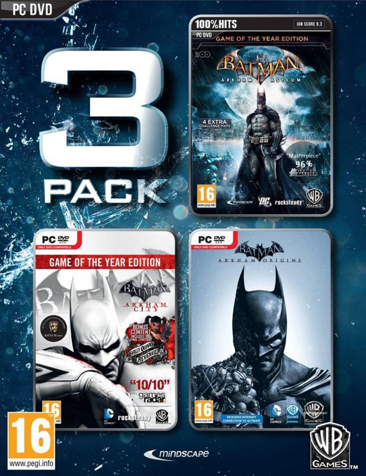 Sélection de jeux video en promotion - Ex : Trilogie Batman Arkham sur PC