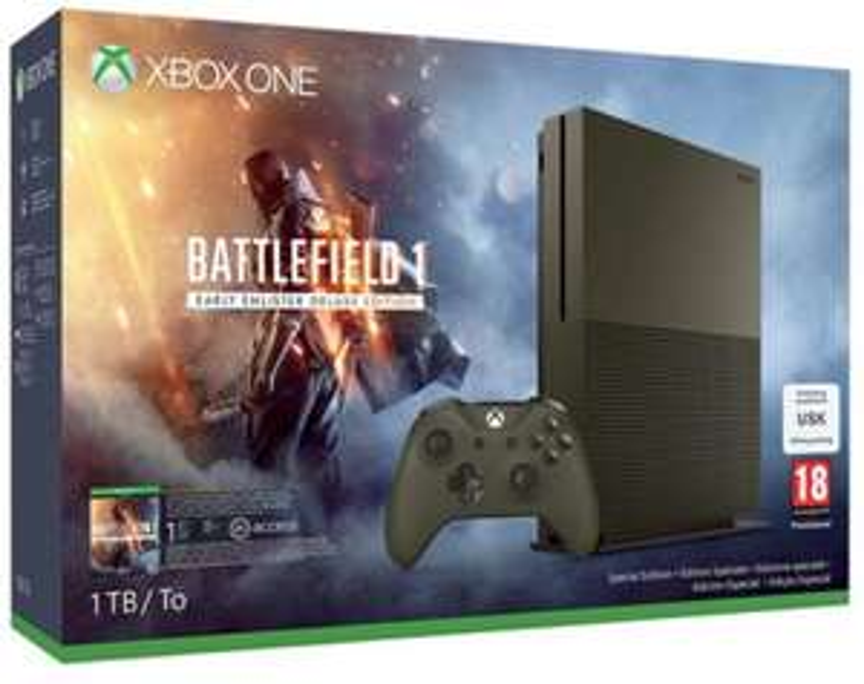 Console Microsoft Xbox One S 1 To Edition Battlefield 1 + 46.22€ en bon d'achat
