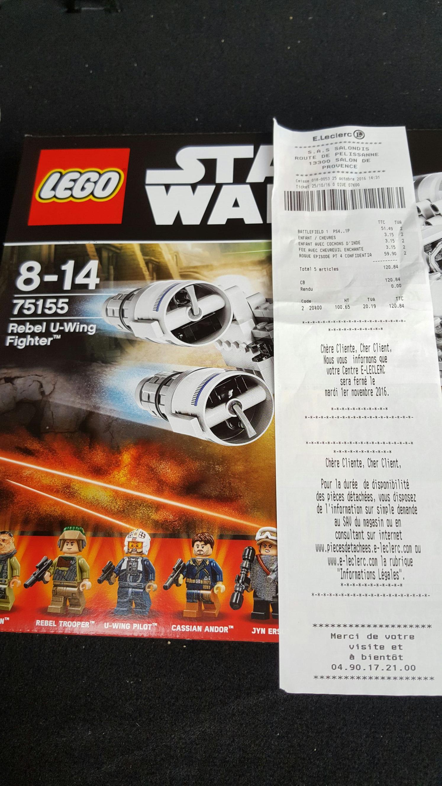 Jouet Lego Star Wars 75155 U-Wing