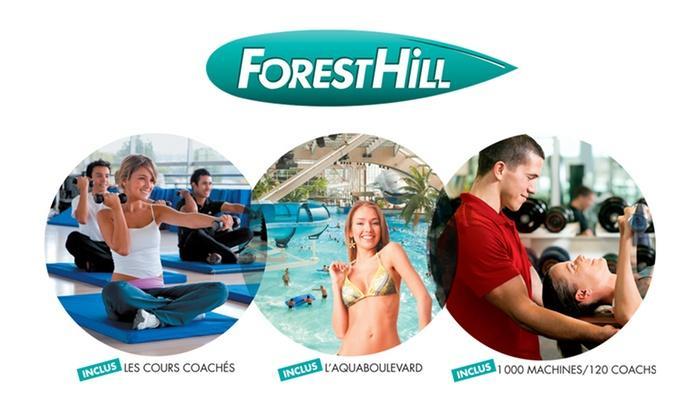 Un an d'accès illimité à toutes les activités des 8 clubs Forest Hill dont l'Aquaboulevard