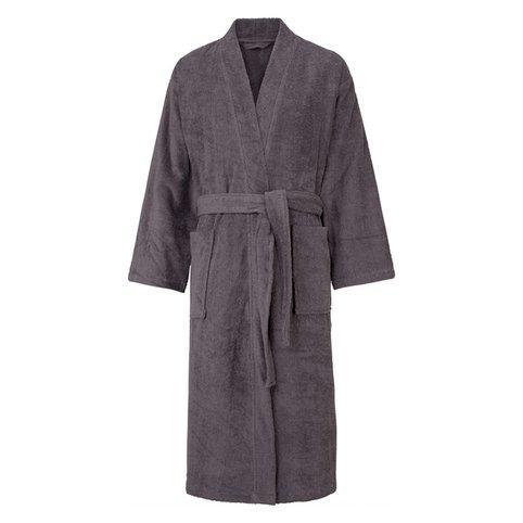 Peignoir de bain en éponge Paul My Home pour Hommes - 100% coton, Gris anthracite, Tailles : S à XXL