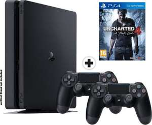 Pack Console PS4 Slim 1 To + 2ème Manette + Uncharted 4 : A Thief's End