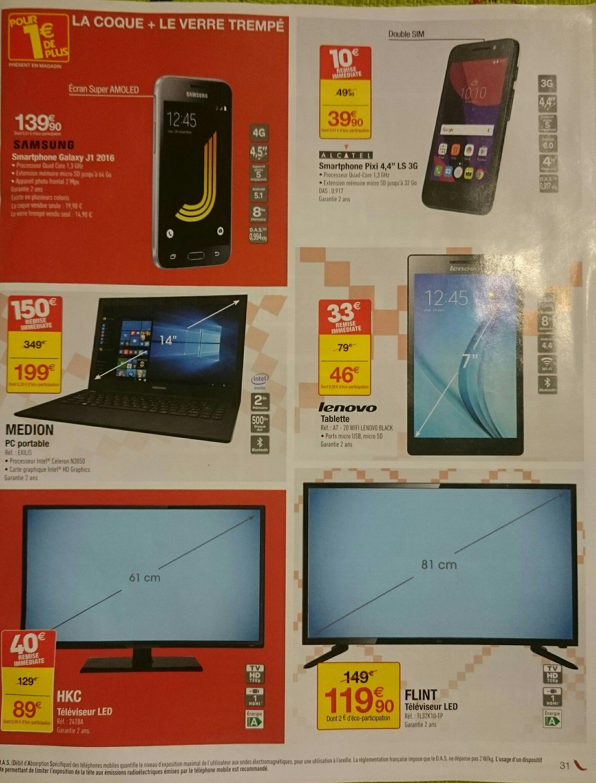 """Sélection de produits multimédias en promotion - Tablette 7"""" Lenovo Tab2 A7-20 - 8 Go, Noir"""