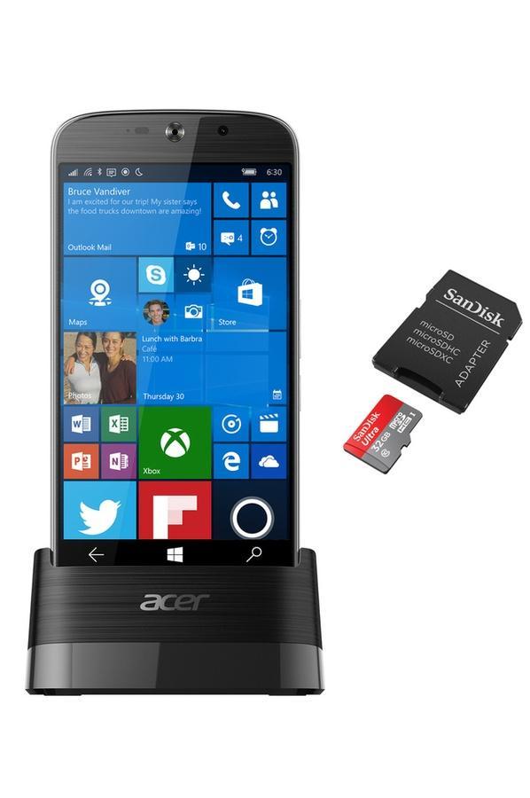 "Smartphone 5.5"" Acer Liquid Jade Primo - FHD, Snapdragon 808, RAM 3Go, 32Go, Windows 10 Mobile + Station d'accueil + Carte microSDXC 32Go"