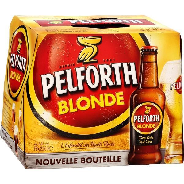 Sélection de produits Pelforth en promo - Ex: 2 Packs de 12 Bières Pelforth 25cl - Blonde ou Brune (via 3.5€ sur la carte + BDR)