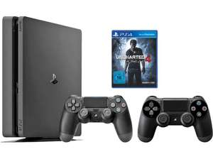 Pack Console Sony PS4 Slim 1 To + 2ème Manette + Uncharted 4 : A Thief's End