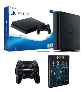 Pack Console PS4 Slim 1To + Fifa 17 (Steelbook) + 2eme Manette