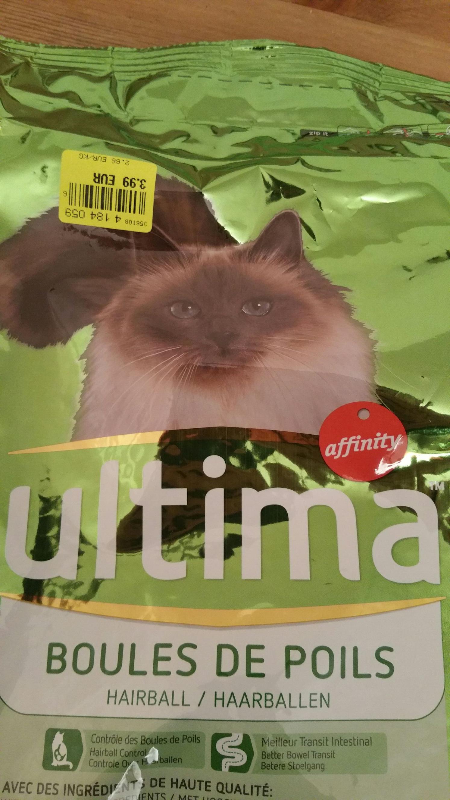 Paquet de 1.5Kg de Croquettes pour Chat Ultima Boule de poils