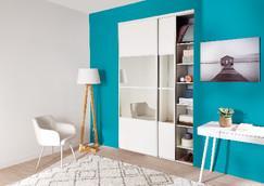 Sélection d'articles en promotion - Ex: Pack de 2 Portes Coulissantes Blanc / Miroir (H. 250 x L. 180 cm)