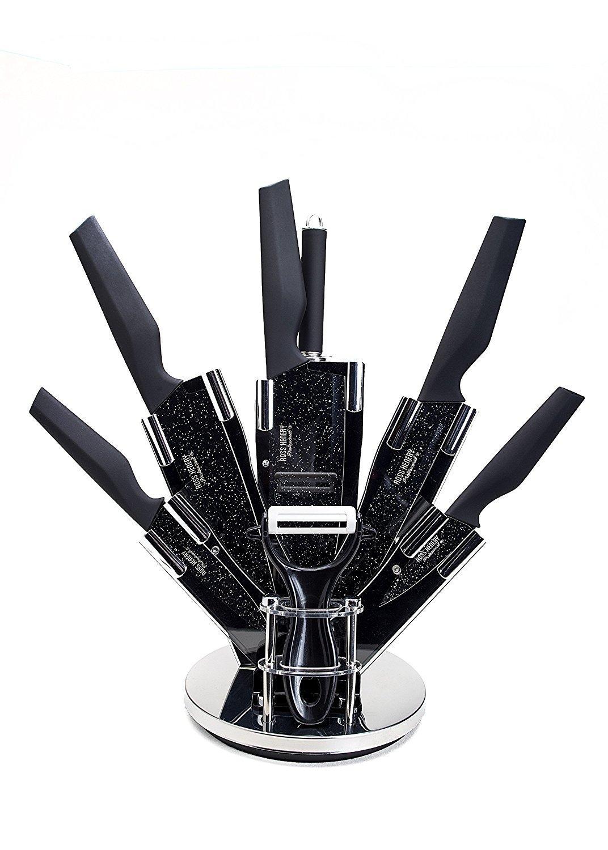 Lot de 8 Couteaux de Cuisine professionnels Ross Henery en Acier inoxydable / Acrylique - Noir