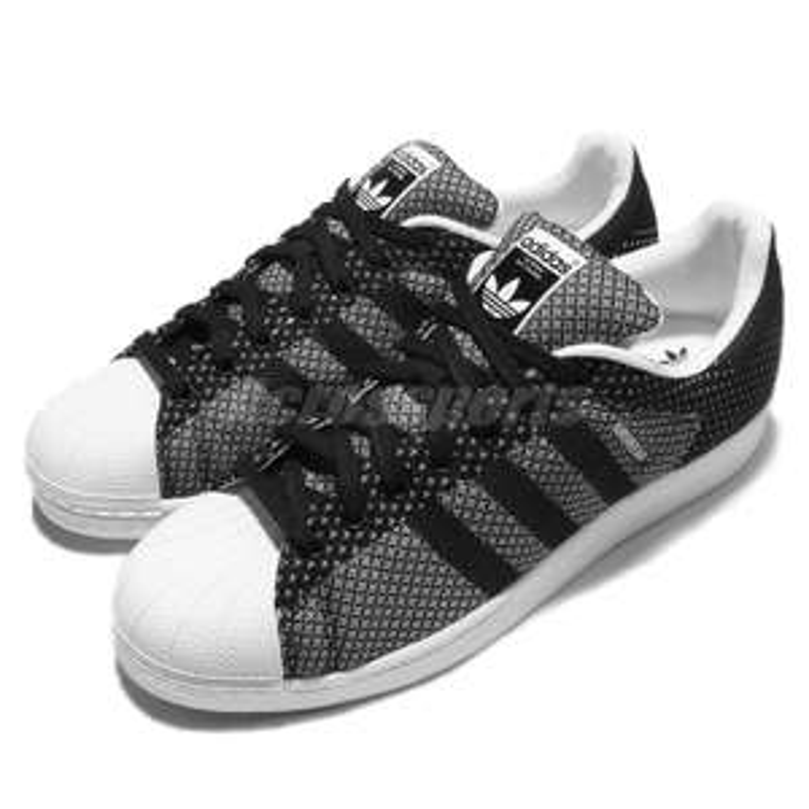 Chaussures Adidas Superstar Weave pour Homme - Noir/Blanc (Plusieurs tailles)