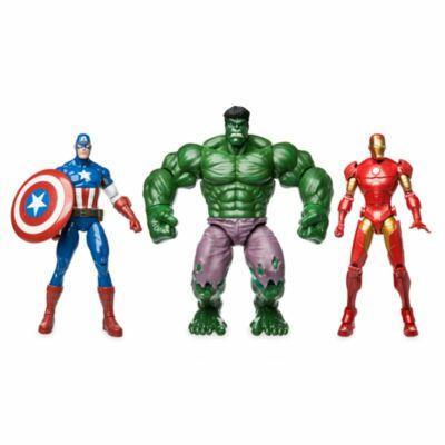 Coffret 3 figurines articulées Avengers 35 cm : Hulk, Captain America et Ironman