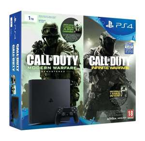 Pack Console Sony PS4 Slim 1To + Call Of Duty: Infinite Warfare + Call Of Duty: Modern Warfare Remastérisé