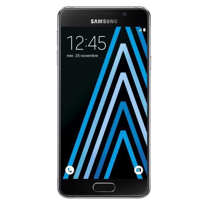 """Smartphone 4,7"""" Samsung Galaxy A3 2016 - Noir (via ODR de 30€)"""