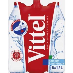 4 Packs de 6 Bouteilles d'eau Vittel - 24x1,5 litres
