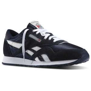 Baskets basses Reebok Classic en Nylon pour Hommes - Team Navy / Platinum